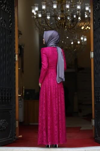 Ahunisa Henna Abiye Fuşya 5646 - Thumbnail