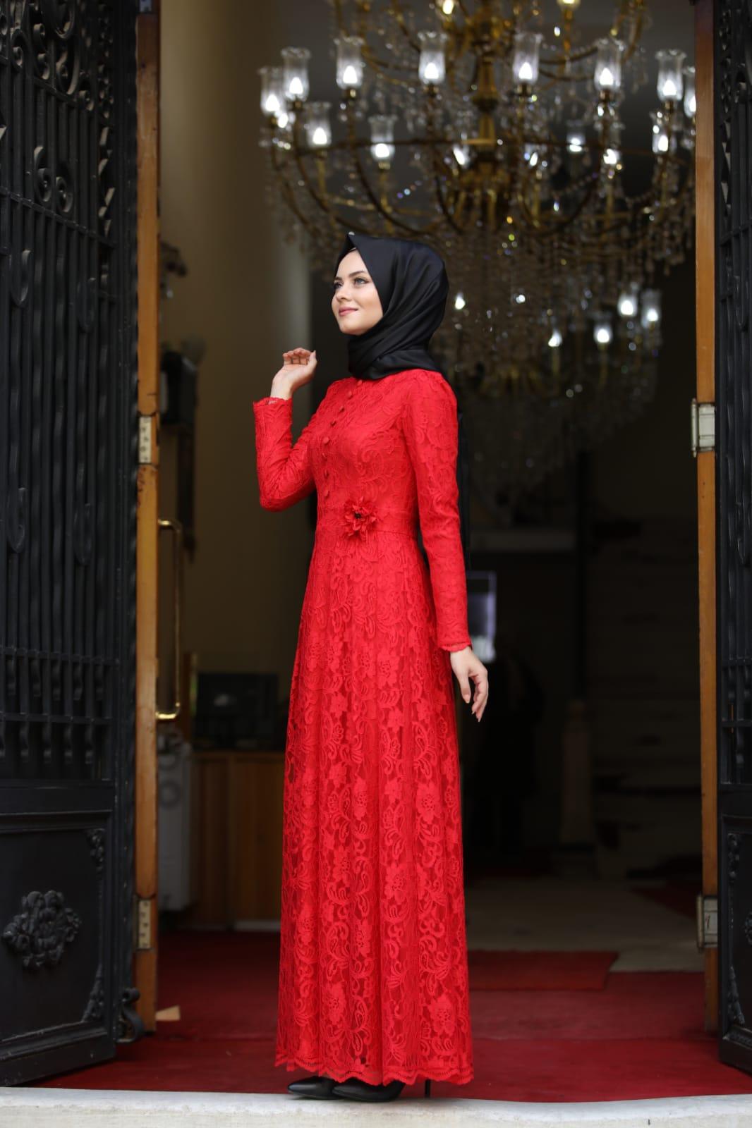 Ahunisa Henna Abiye Kırmızı 5646