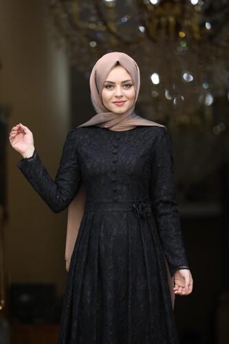 Moda Çizgi - Ahunisa Henna Abiye Siyah 5646