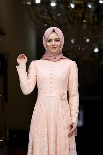 Moda Çizgi - Ahunisa Henna Abiye Somon 5646