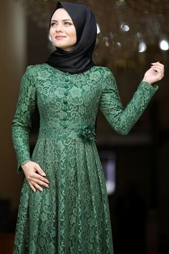 Moda Çizgi - Ahunisa Henna Abiye Haki 5646