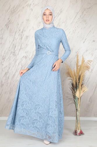 Moda Çizgi - Ahunisa Tanem Abiye Bebe Mavi 6525
