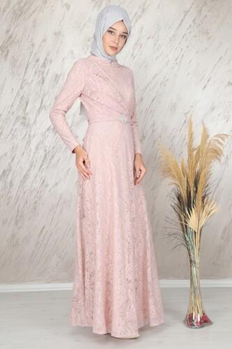 Moda Çizgi - Ahunisa Tanem Abiye Pudra 6525