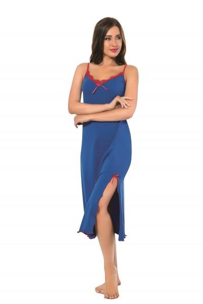 Moda Çizgi - Moda Çizgi Bayan İp Askılı Uzun Gecelik 905