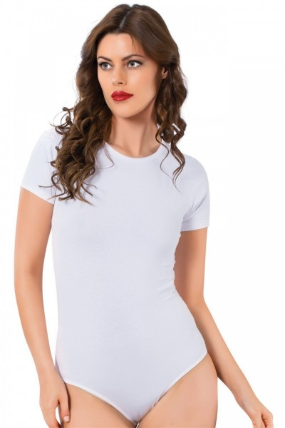 Moda Çizgi - Moda Çizgi Bayan Kısa Kol Çıtçıtlı Body 242