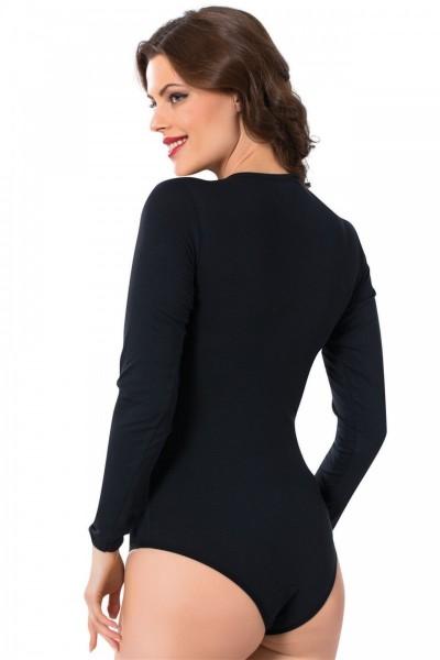 Moda Çizgi - Moda Çizgi Bayan Uzun Kol Çıtçıtlı Body 244