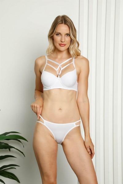 Moda Çizgi - Moda Çizgi Destekli Sütyen Külot Takım 223D