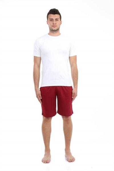 Moda Çizgi - Moda Çizgi Erkek Cepli Pamuk Şort 27208