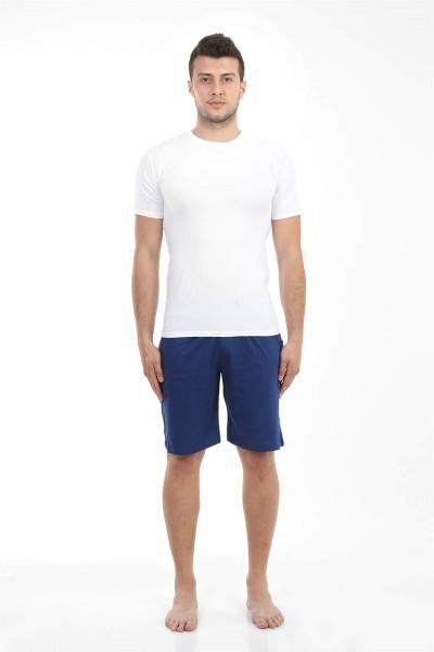 Moda Çizgi - Moda Çizgi Erkek Cepli Pamuk Şort 27209