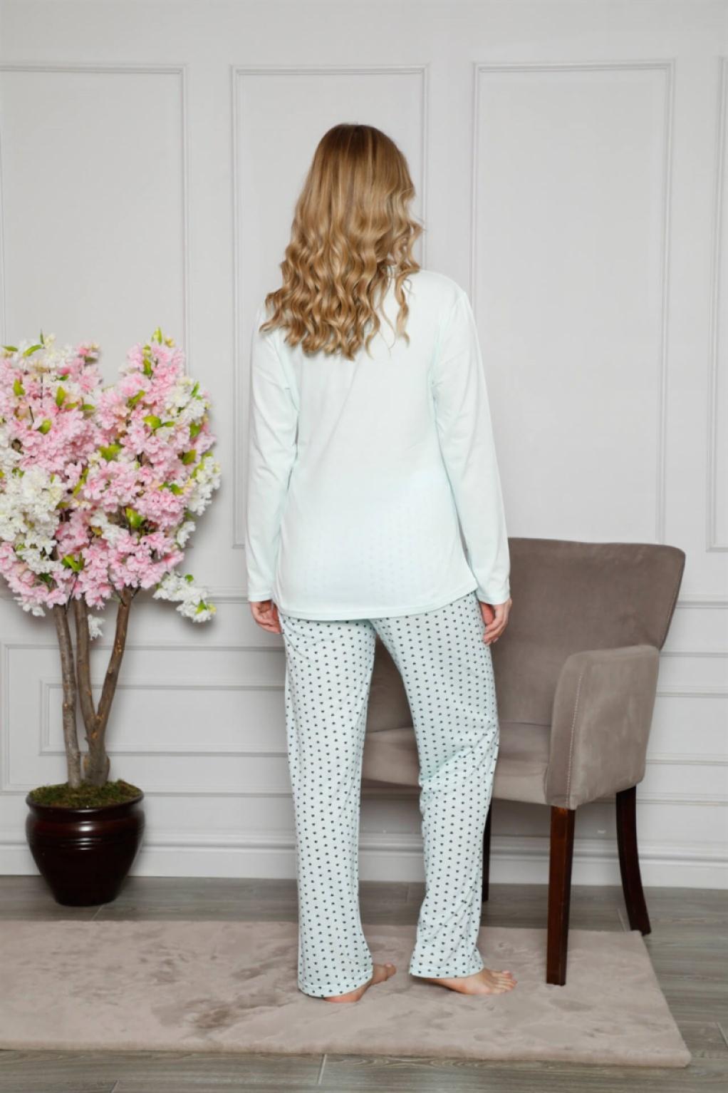 Moda Çizgi Kadın %100 Pamuklu Hamile Pijama Takımı 4516