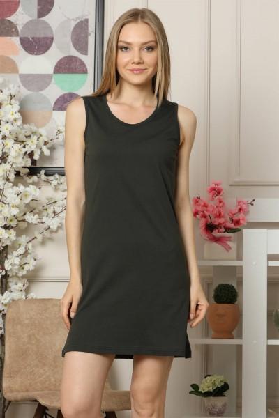 Moda Çizgi - Kalın Askılı Penye Gecelik 954