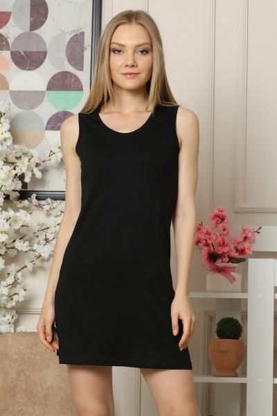 Moda Çizgi - Kalın Askılı Penye Gecelik 959