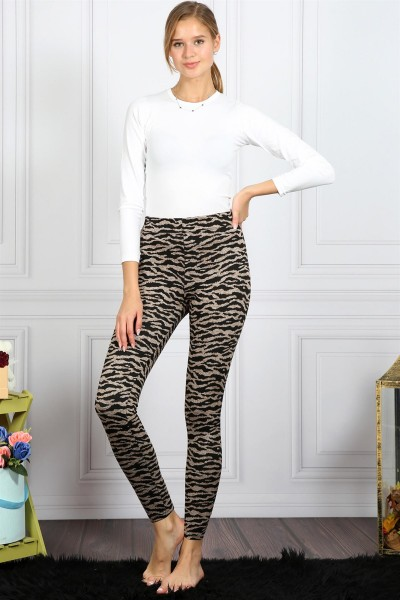 Moda Çizgi - Lopar Desenli Tayt 5857