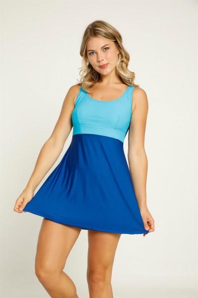 Moda Çizgi - Moda Çizgi Şortlu Likralı Elbise Mayo 28283