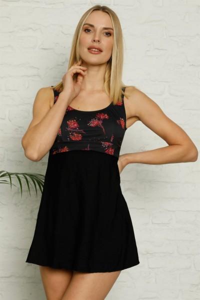 Moda Çizgi - Moda Çizgi Şortlu Likralı Elbise Tesettür Mayo 28184