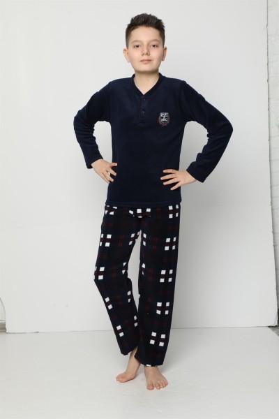 Moda Çizgi - WelSoft Polar Erkek Çocuk Pijama Takımı 4529