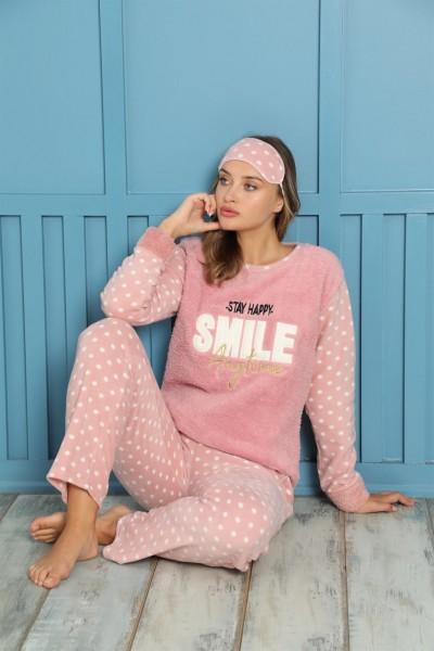 Akbeniz - Akbeniz Welsoft Polar Kadın Pijama Takımı 8457