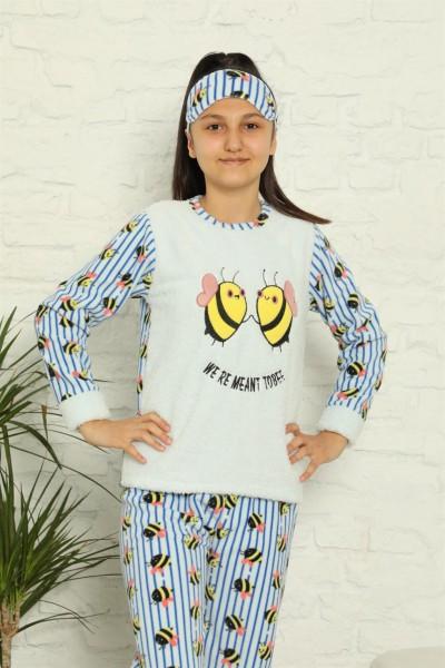 Moda Çizgi - Moda Çizgi WelSoft Polar Kız Çocuk Pijama Takımı 4579