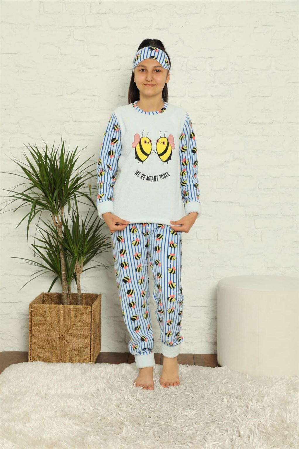 Moda Çizgi WelSoft Polar Kız Çocuk Pijama Takımı 4579