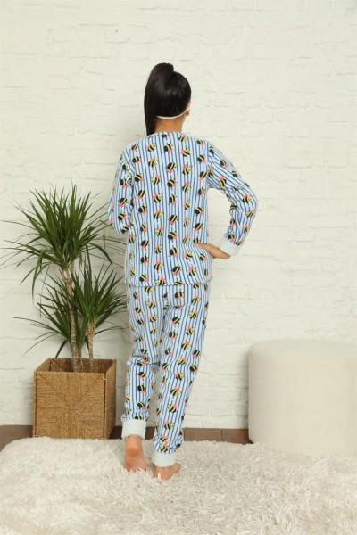 Moda Çizgi WelSoft Polar Kız Çocuk Pijama Takımı 4579 - Thumbnail