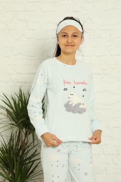 Moda Çizgi - Moda Çizgi WelSoft Polar Kız Çocuk Pijama Takımı 4584