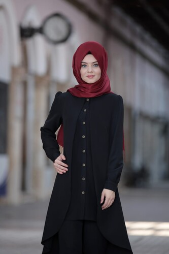MODAÇİZGİ - Dilay İkili Takım Siyah 5320
