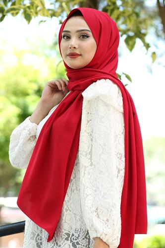 Moda Çizgi - Medine İpeği Şal Kırmızı