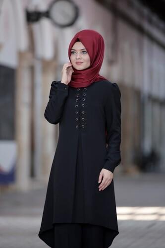 Moda Çizgi - Mina İkili Takım Siyah 5368