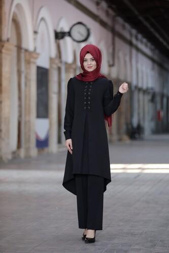 Mina İkili Takım Siyah 5368 - Thumbnail