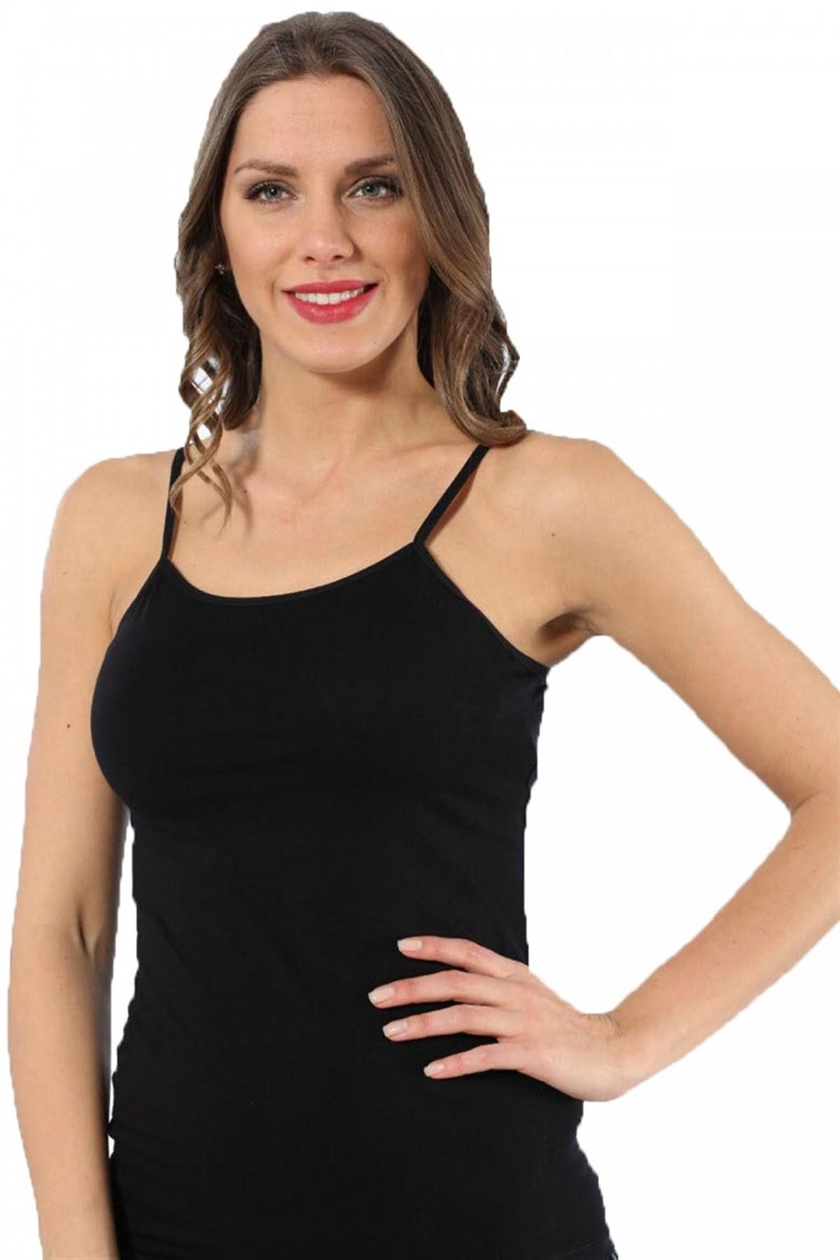 Moda Çizgi Bayan İp Askılı Atlet 230