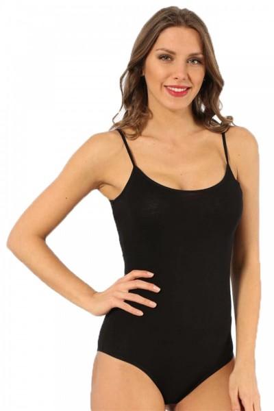 Moda Çizgi - Moda Çizgi Bayan İp Askılı Çıtçıtlı Body 240