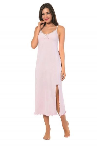 Moda Çizgi - Moda Çizgi Bayan İp Askılı Uzun Gecelik 900
