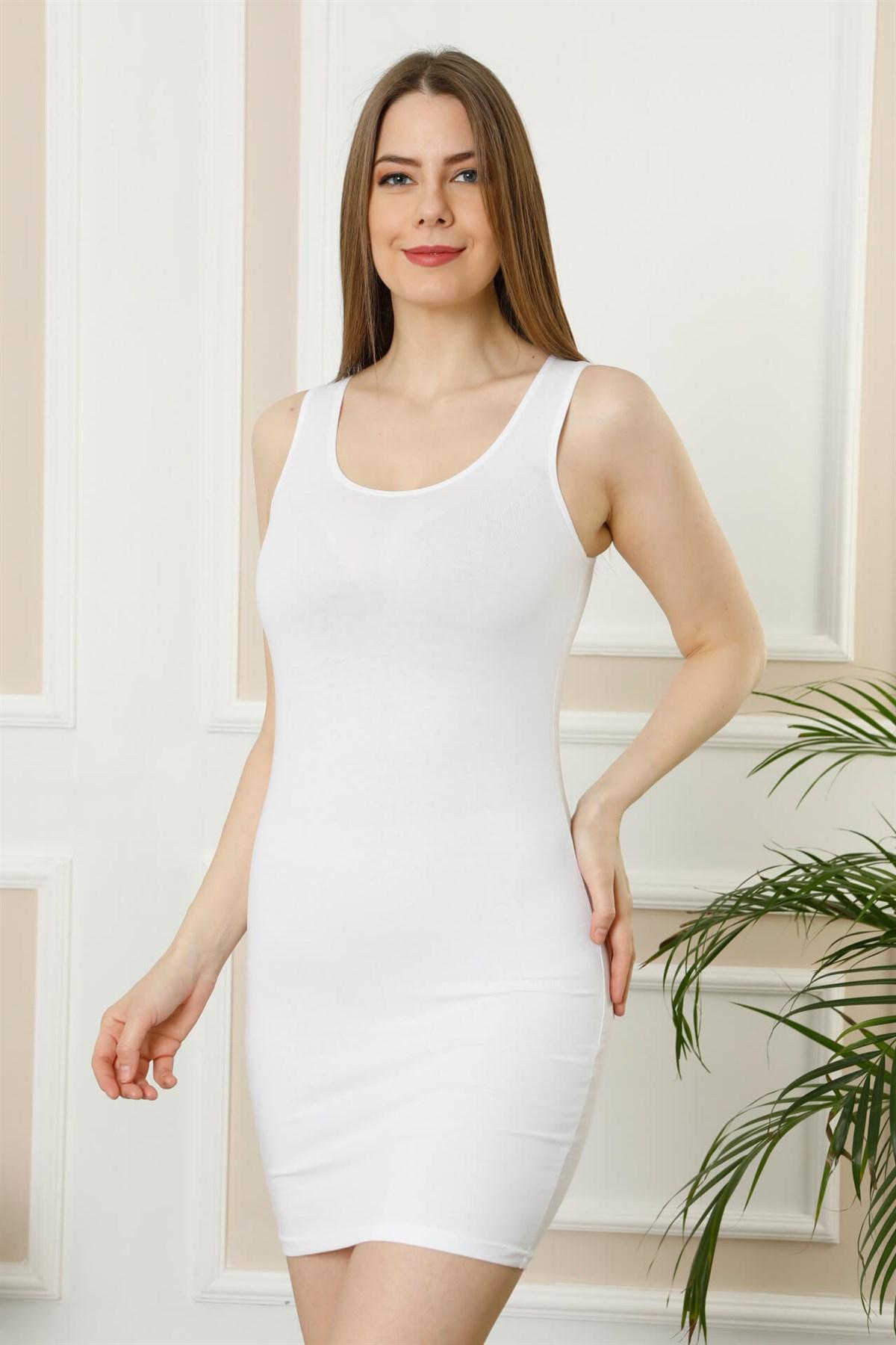 Moda Çizgi Bayan Kalın Askılı Tunik Body 111B