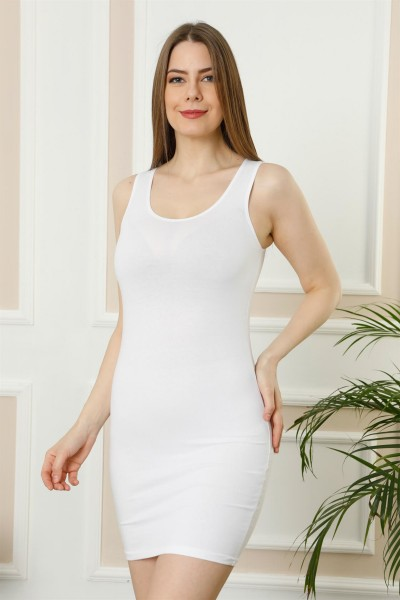 Moda Çizgi Bayan Kalın Askılı Tunik Body 111B - Thumbnail