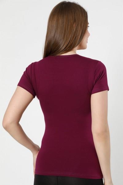 Moda Çizgi Bayan Kısa Kol Body 232M - Thumbnail