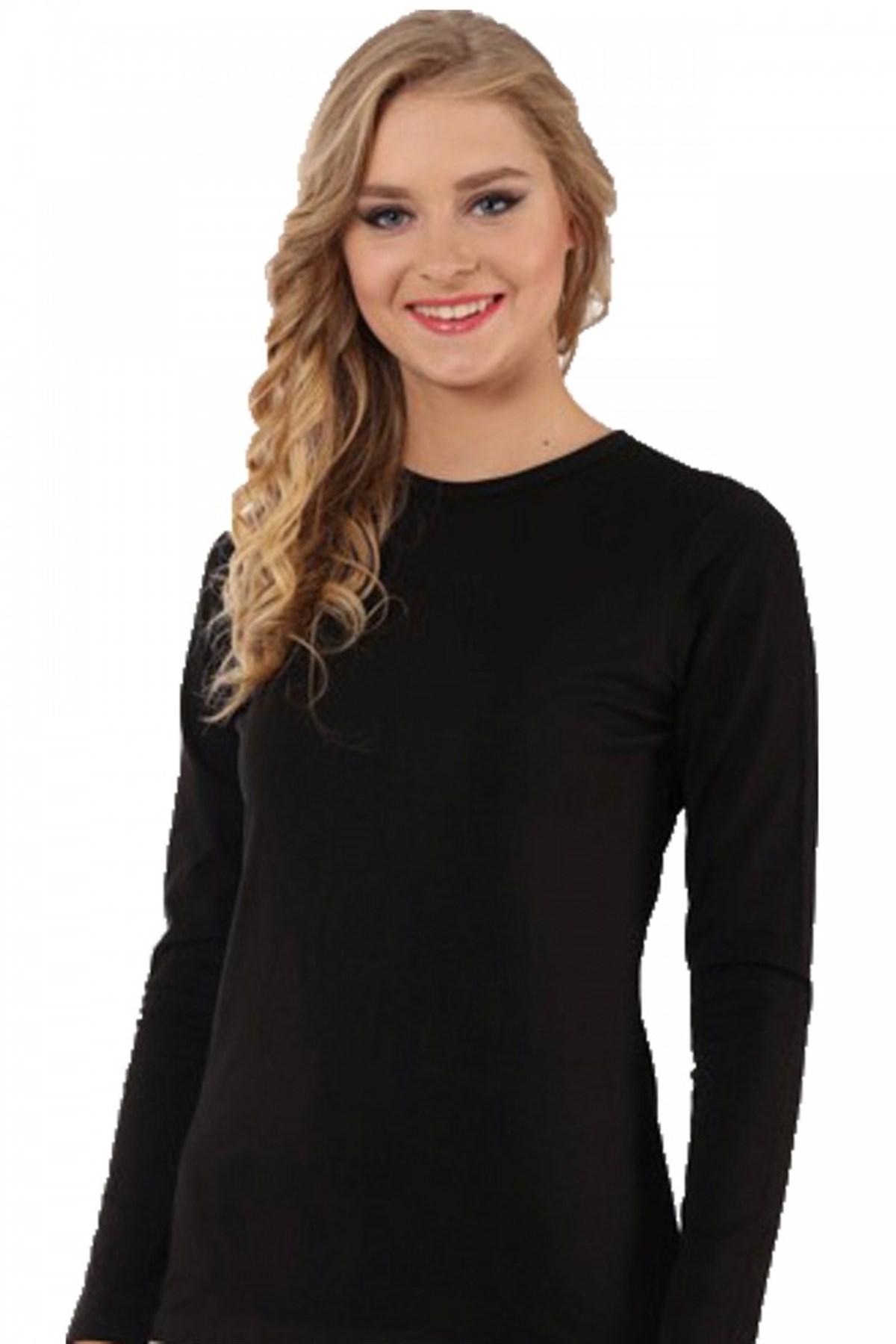 Moda Çizgi Bayan Uzun Kol Body 250