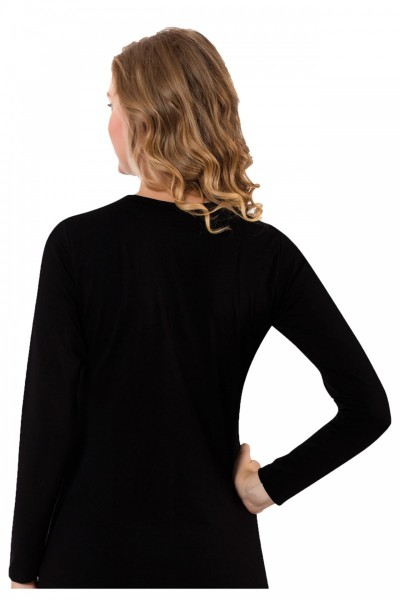 Moda Çizgi Bayan Uzun Kol Body 250 - Thumbnail