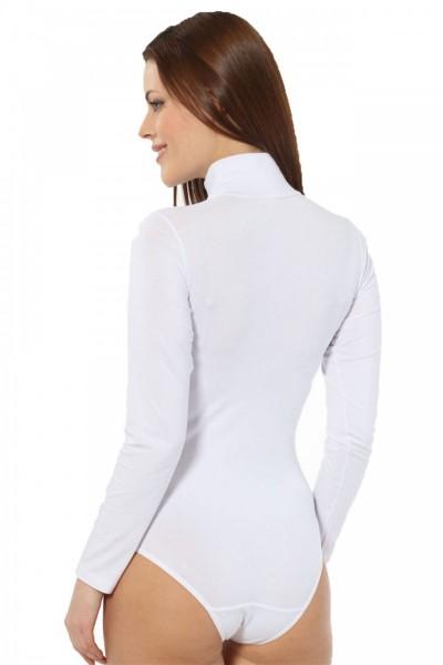 Moda Çizgi Bayan Uzun Kol Boğazlı Çıtçıtlı Body 260 - Thumbnail
