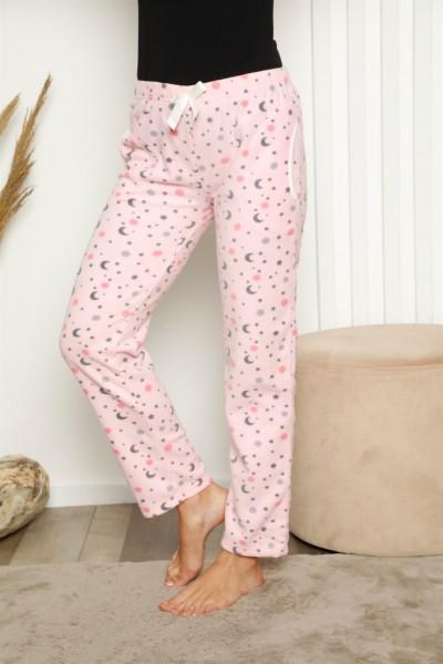 Moda Çizgi - Moda Çizgi Bayan Welsoft Polar Tek Alt Pijama 27339