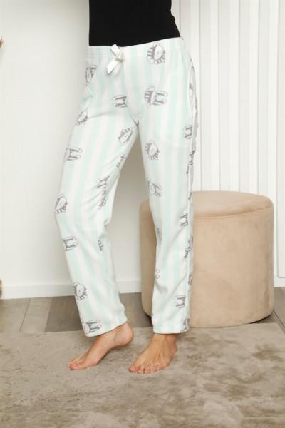 Moda Çizgi - Moda Çizgi Bayan Welsoft Polar Tek Alt Pijama 27343