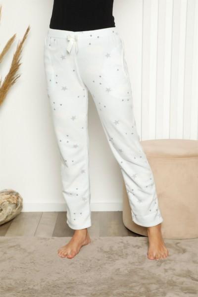 Moda Çizgi - Moda Çizgi Bayan Welsoft Polar Tek Alt Pijama 27345
