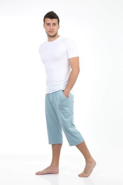 Moda Çizgi Erkek Pamuk Kapri 27194 - Thumbnail
