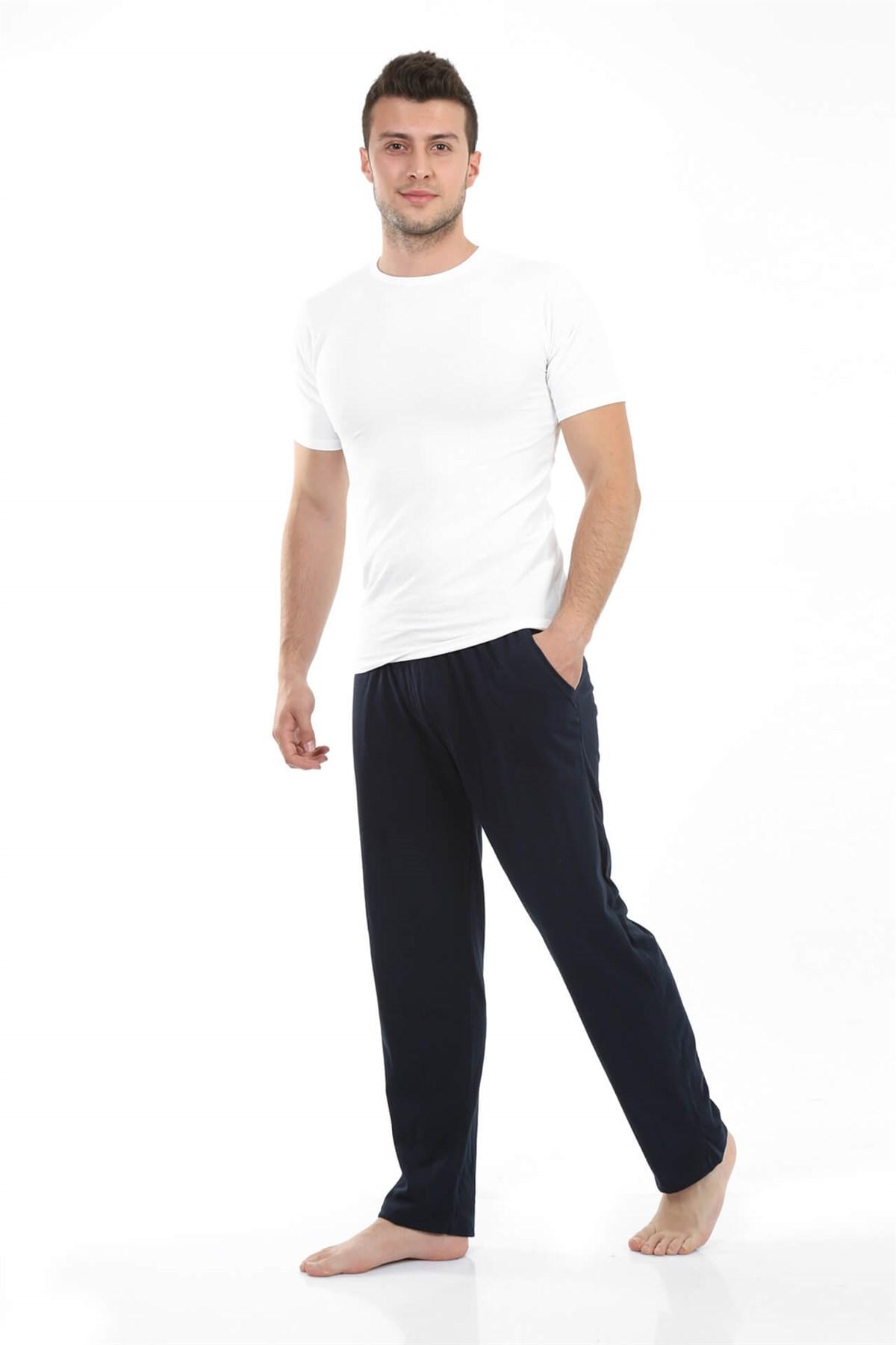 Moda Çizgi Erkek Pamuk Tek Alt Pijama 27204