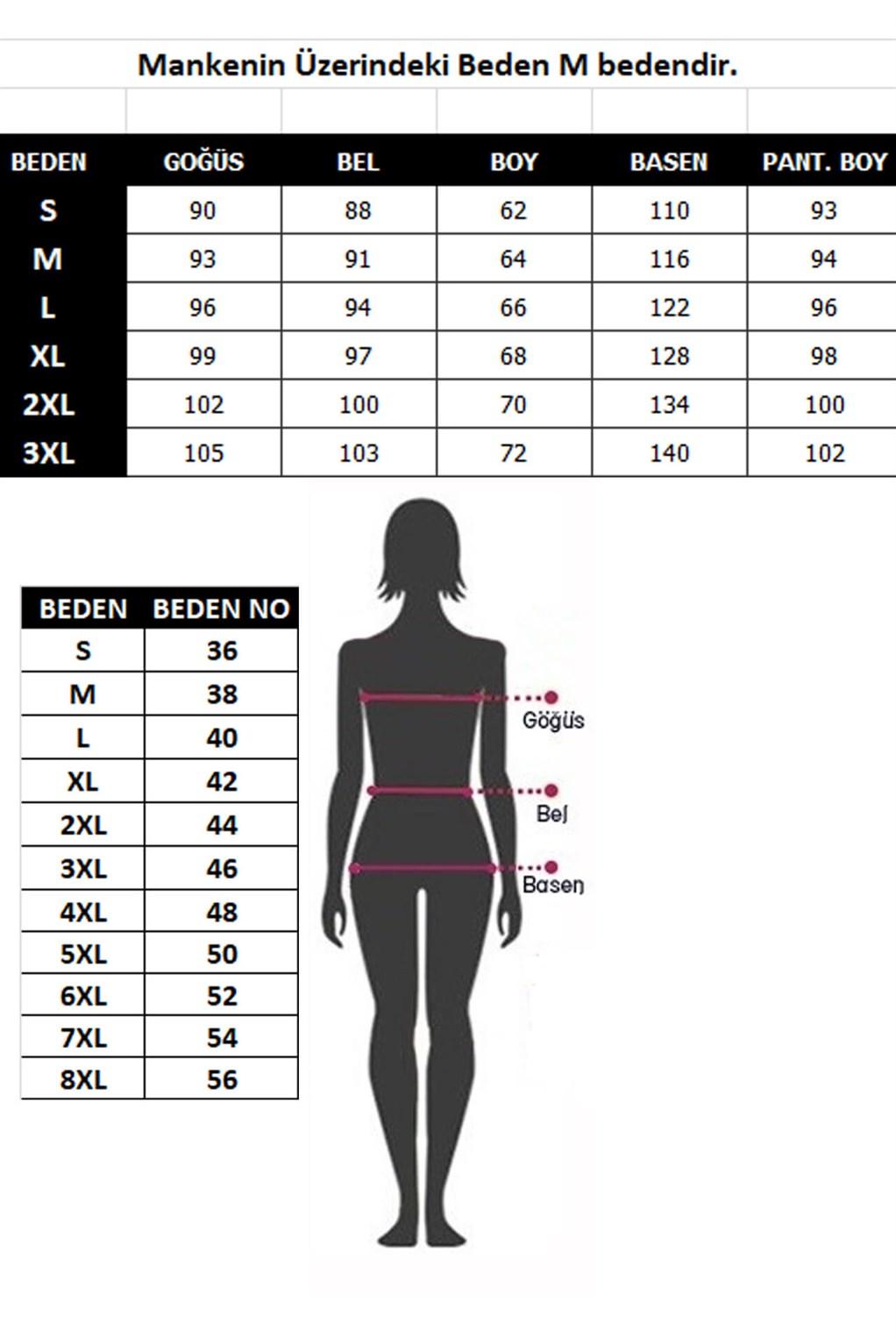 Moda Çizgi Kadın %100 Pamuk Penye Uzun Kol Pijama Takım 3416