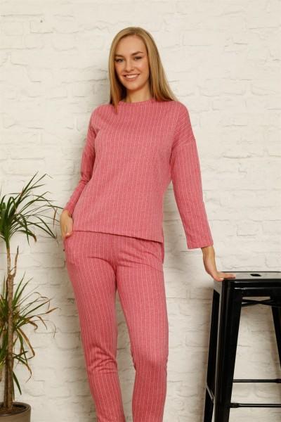 Moda Çizgi - Moda Çizgi Kadın Pamuk Eşofman Takım 9034