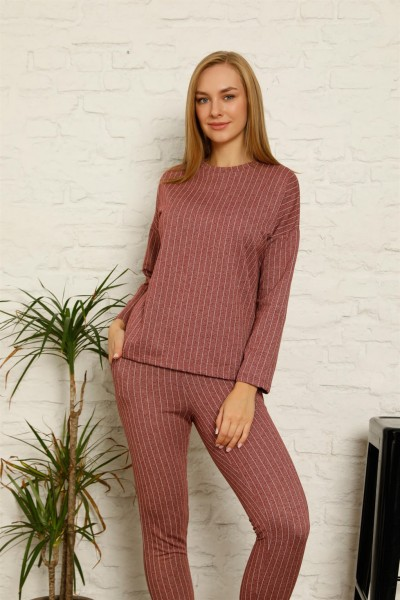 Moda Çizgi - Moda Çizgi Kadın Pamuk Eşofman Takım 9035