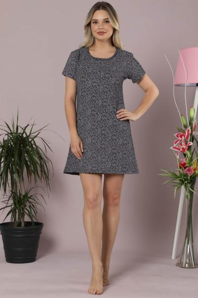 Moda Çizgi - Kadın Pamuklu Kısa Kol Tunik Gecelik 853