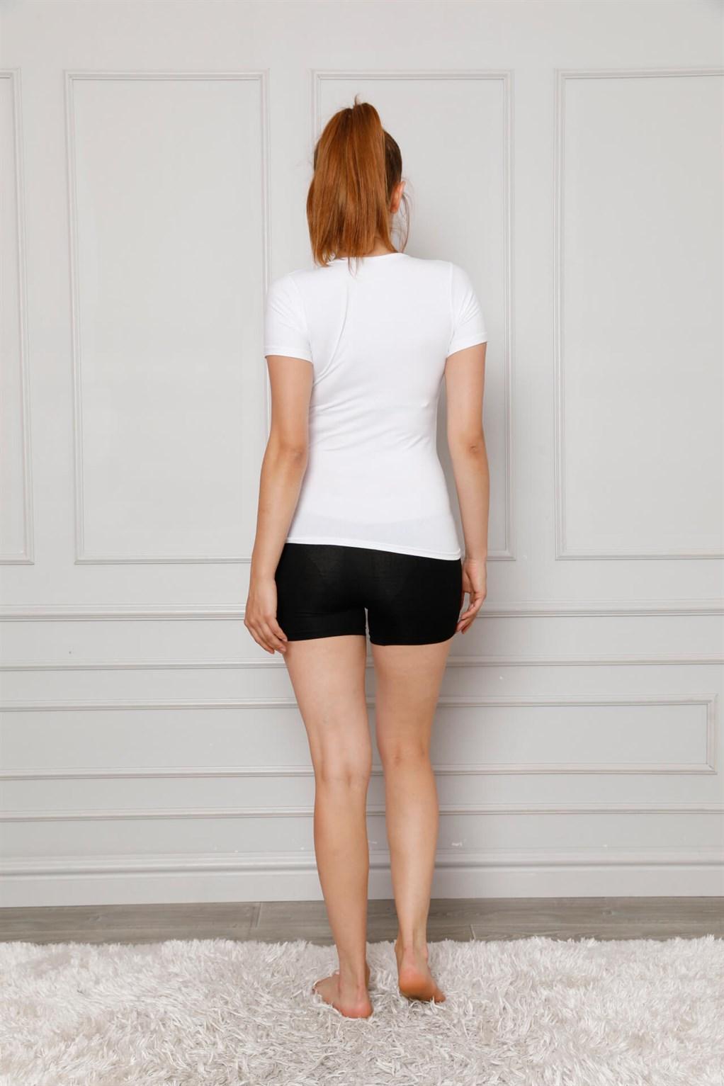 Moda Çizgi Kadın Penye Boxer 5870