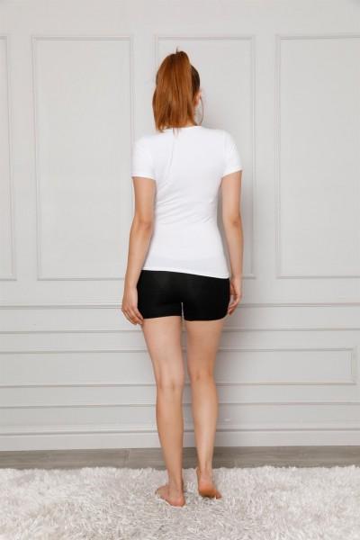 Moda Çizgi Kadın Penye Boxer 5870 - Thumbnail