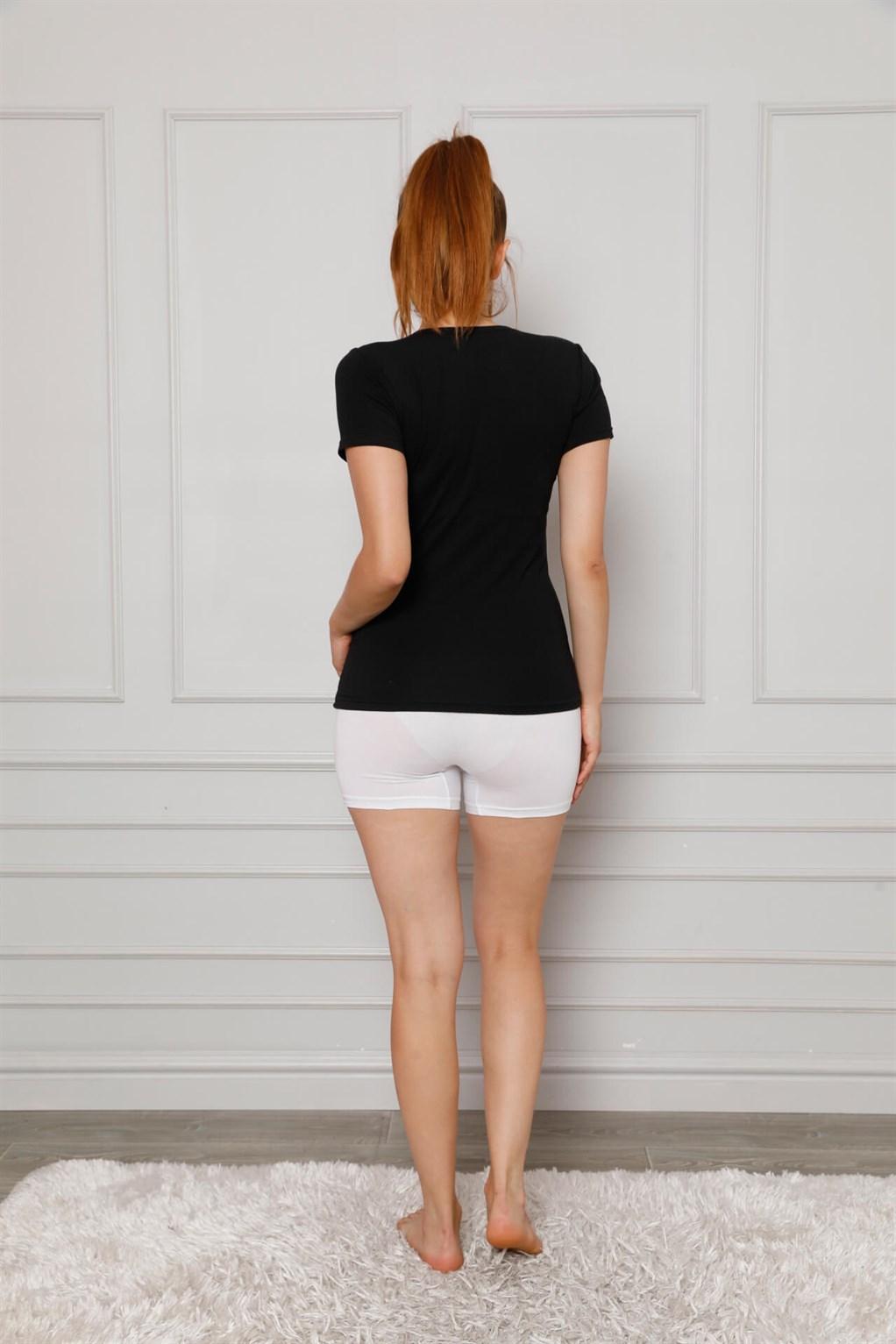 Moda Çizgi Kadın Penye Boxer 5871